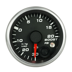 Revolution 2 5/8 Inch Boost - Vacuum Gauge 30inhg-20psi with Mem